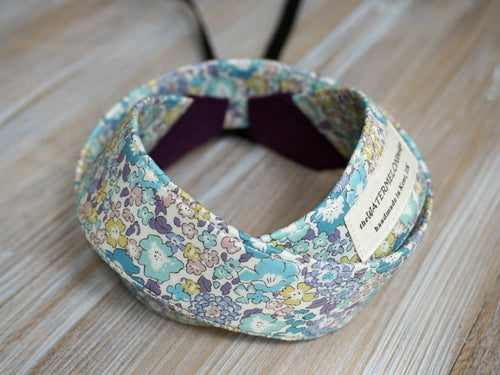 Light Purple Floral Camera Strap - Liberty of London Tana Lawn Michelle D