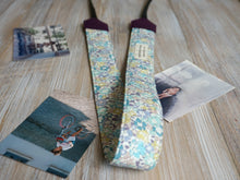 Load image into Gallery viewer, Light Purple Floral Camera Strap - Liberty of London Tana Lawn Michelle D