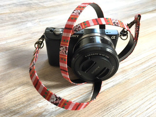 Minimalist Red Camera DSLR Strap - Limited Edition Red Camera Strap