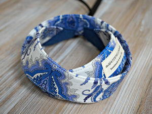 Blue Floral Camera Strap - Liberty of London Tana Lawn Lord Paisley