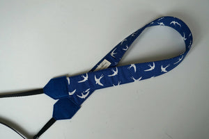 Swallows Camera Strap - Navy Blue DSLR Camera Strap - Photography - Camera Accessories - Personalised Camera Sling