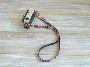 Rainbow Stripes DSLR Camera Strap - Limited Edition
