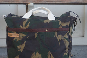 Camo Print Large Shoulder Bag - style: OASIS