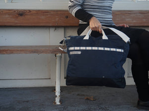 Navy Blue Large Shoulder Bag -style: OASIS