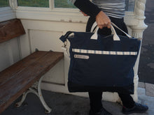 Load image into Gallery viewer, Navy Blue Large Shoulder Bag -style: OASIS