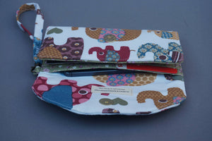 Elephants and Floral Boho Purse - Women's Wristlet Wallet