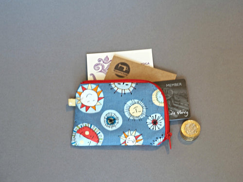 The Sun Coin Purse - Small Coin Purse - Smiley Sun Coin Purse - Small Zipper Pouch