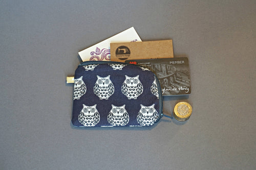 Owls Coin Purse - Small Coin Purse - Cute Owl Coin Purse - Little Owl Zipper Pouch