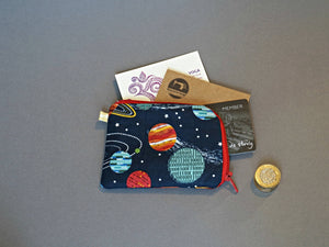 Galaxy Coin Purse - Planets Coin Purse - Small Coin Purse - Little Zipper Pouch - Cute Zip Purse