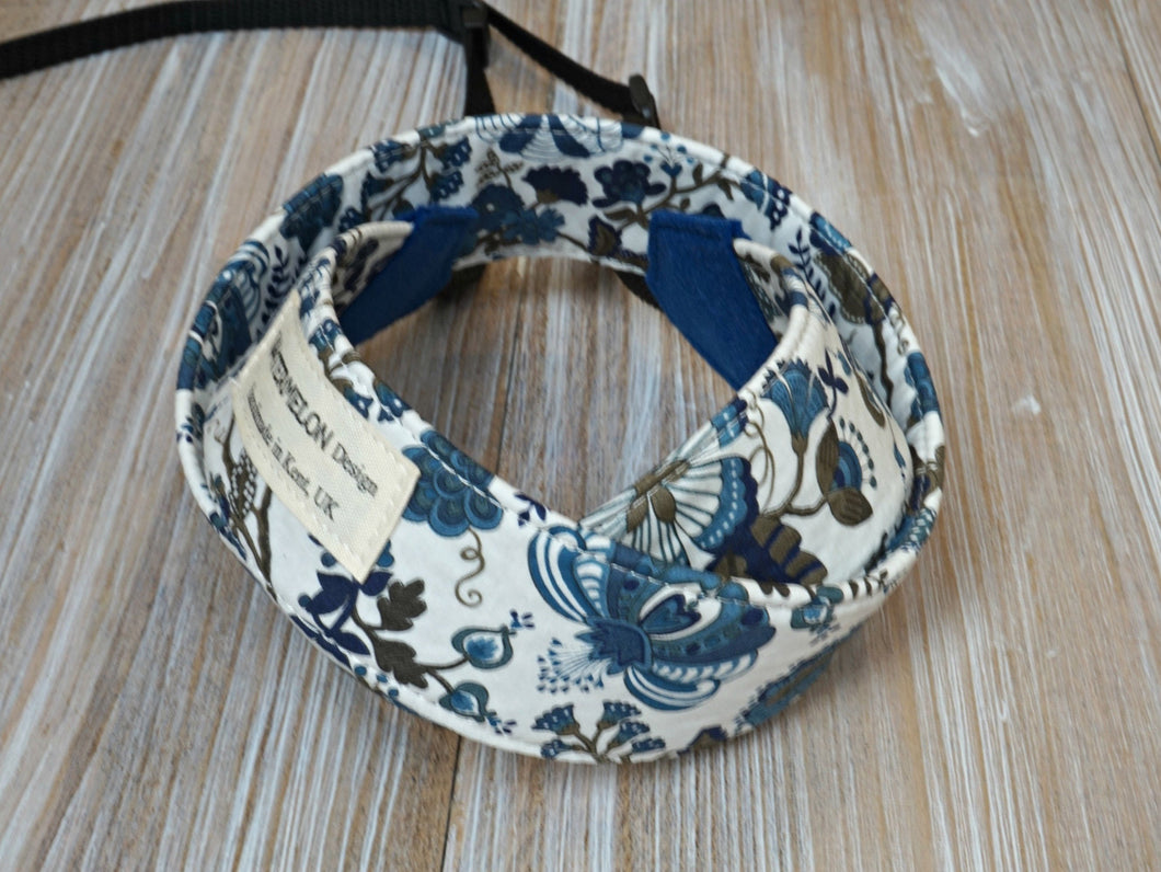 Blue Floral DSLR Camera Strap - Liberty of London Tana Lawn Mabelle Blue