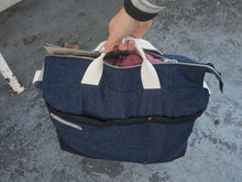 Load image into Gallery viewer, Large Denim Bag - Weekender Shoulder Bag - style: OASIS