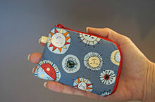 Load image into Gallery viewer, The Sun Coin Purse - Small Coin Purse - Smiley Sun Coin Purse - Small Zipper Pouch