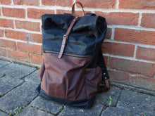 Load image into Gallery viewer, Waxed Canvas Back Bag - Rollup Top style: WREK
