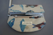 Load image into Gallery viewer, Nautical Theme Women's Wristlet Purse - Fish Design Wallet