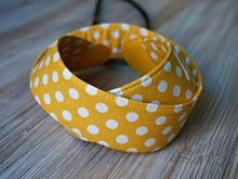 Load image into Gallery viewer, Polka Dots Camera Strap - Yellow DSLR Camera Strap - Photography Accessories - Handmade Neck Strap - Personalized Camera Sling