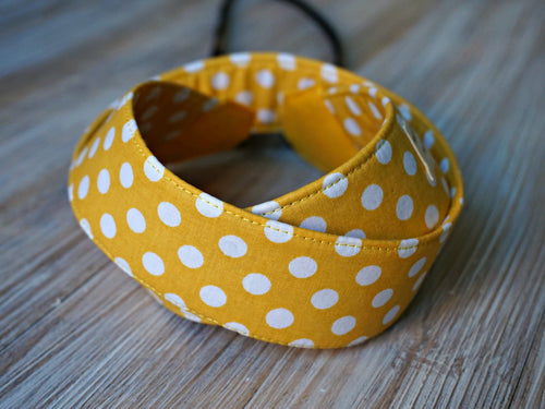 Polka Dots Camera Strap - Yellow DSLR Camera Strap - Photography Accessories - Handmade Neck Strap - Personalized Camera Sling