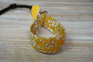 Mustard Yellow Floral Wrist DSLR Camera Strap