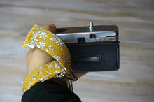 Load image into Gallery viewer, Mustard Yellow Floral Wrist DSLR Camera Strap