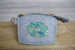 Felt Coin Purse with Liberty of London Florals