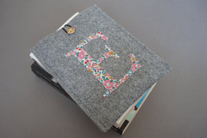 Liberty Floral Monogram Felt Kindle Case
