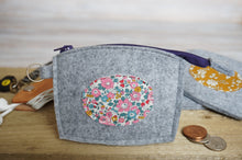 Load image into Gallery viewer, Felt Coin Purse with Liberty of London Florals