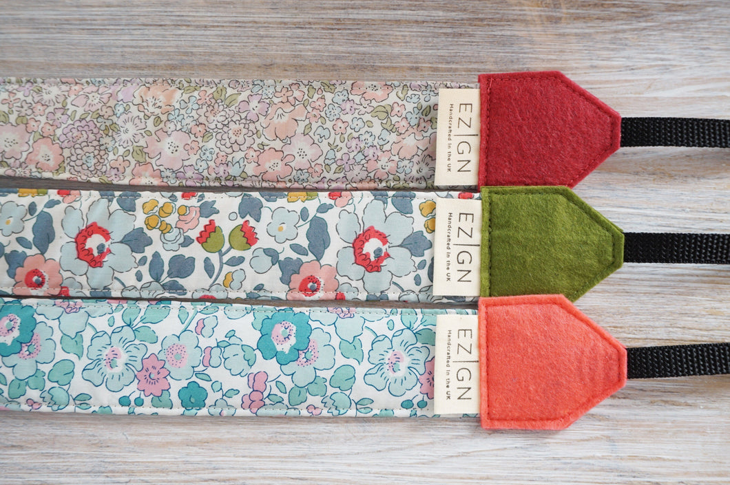New Floral Camera Straps - Liberty of London Prints - 2021 Collection