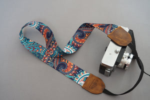 Rainbow DSLR Camera Strap, Ethnic Design