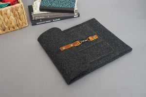 Grey Felt iPad Tablet Sleeve Case style: GRIW