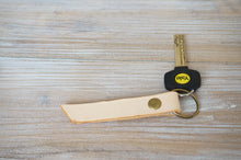Load image into Gallery viewer, Personalised Keyfob - Veg. Tanned Natural Genuine Leather - style KUM