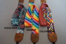 Load image into Gallery viewer, Rainbow DSLR Camera Strap, Ethnic Design