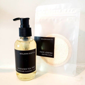 Benjamin Soap Company Face Cleanser and Face Loofah (1 of each)