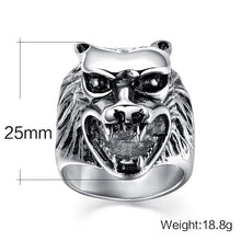 Load image into Gallery viewer, WOLF - Ring Stainless - Marvellmen