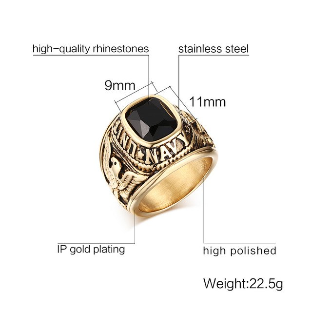 NAVY - Ring Stainless - Marvellmen