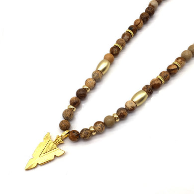 ARROW STONE - Long Necklace - Marvellmen