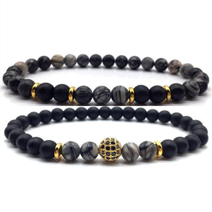 LAVA x2- Natural Beaded Bracelet - Marvellmen