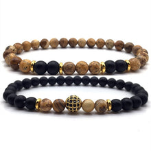 Load image into Gallery viewer, LAVA x2- Natural Beaded Bracelet - Marvellmen