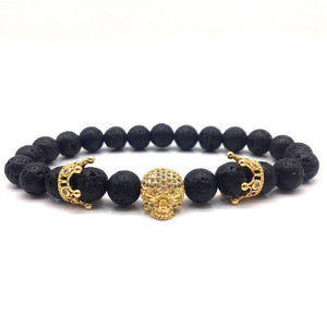 SKULLCROWN - Natural Beaded Bracelet - Marvellmen
