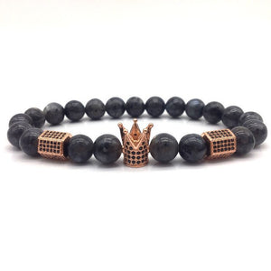 GEO CROWN - Natural Beaded Bracelet - Marvellmen