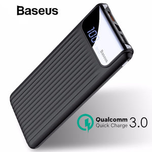 Baseus 10000mAh LCD Quick Charge 3.0 Dual USB Power Bank - Marvellmen
