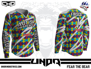 Autism Awareness Semi Custom Jersey