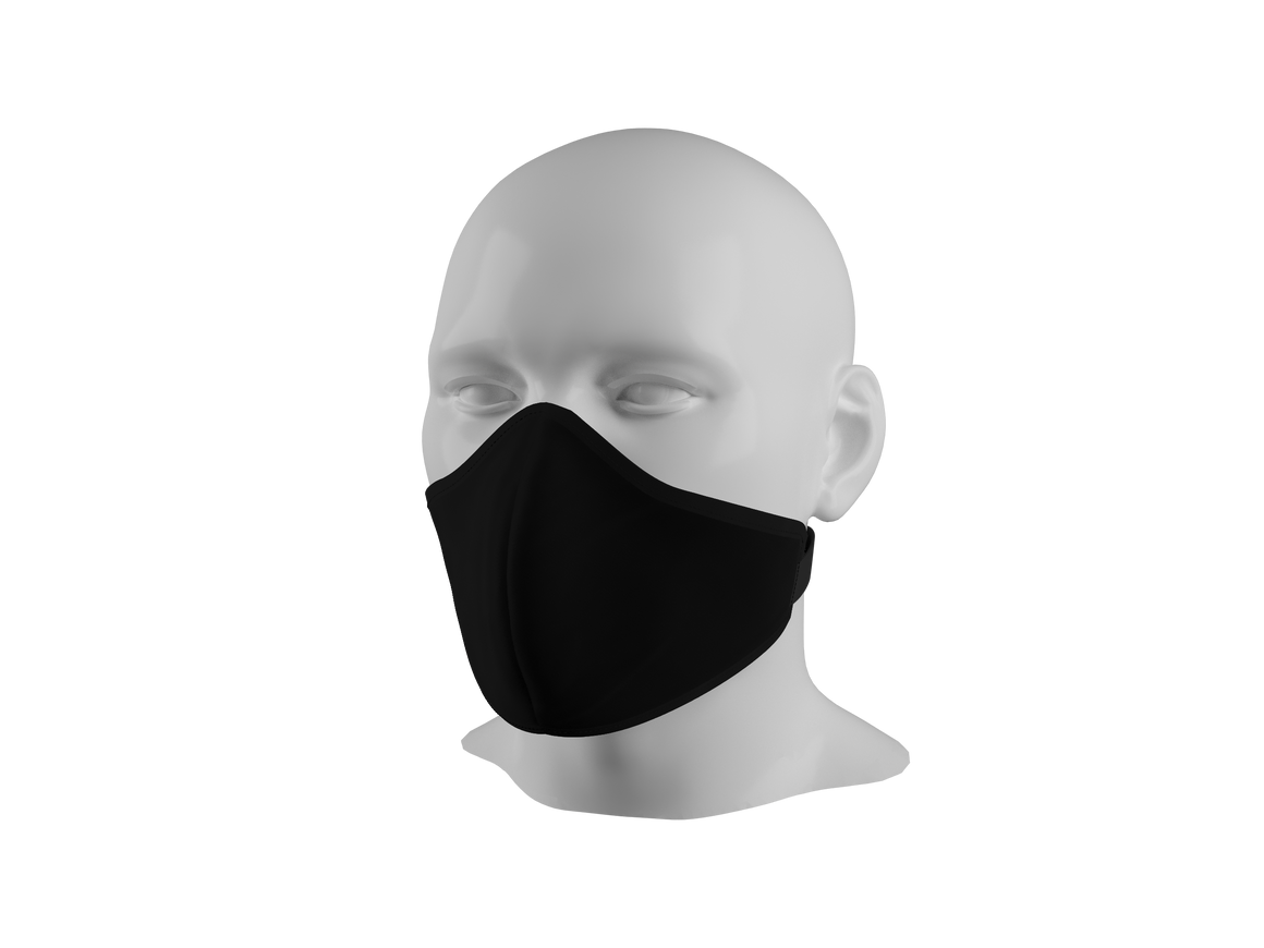 Anti-Dust Face Mask - Black.