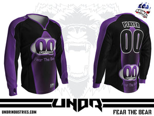 00 Degrees Purple Semi Custom Jersey