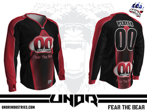 00 Degrees Red Semi Custom Jersey