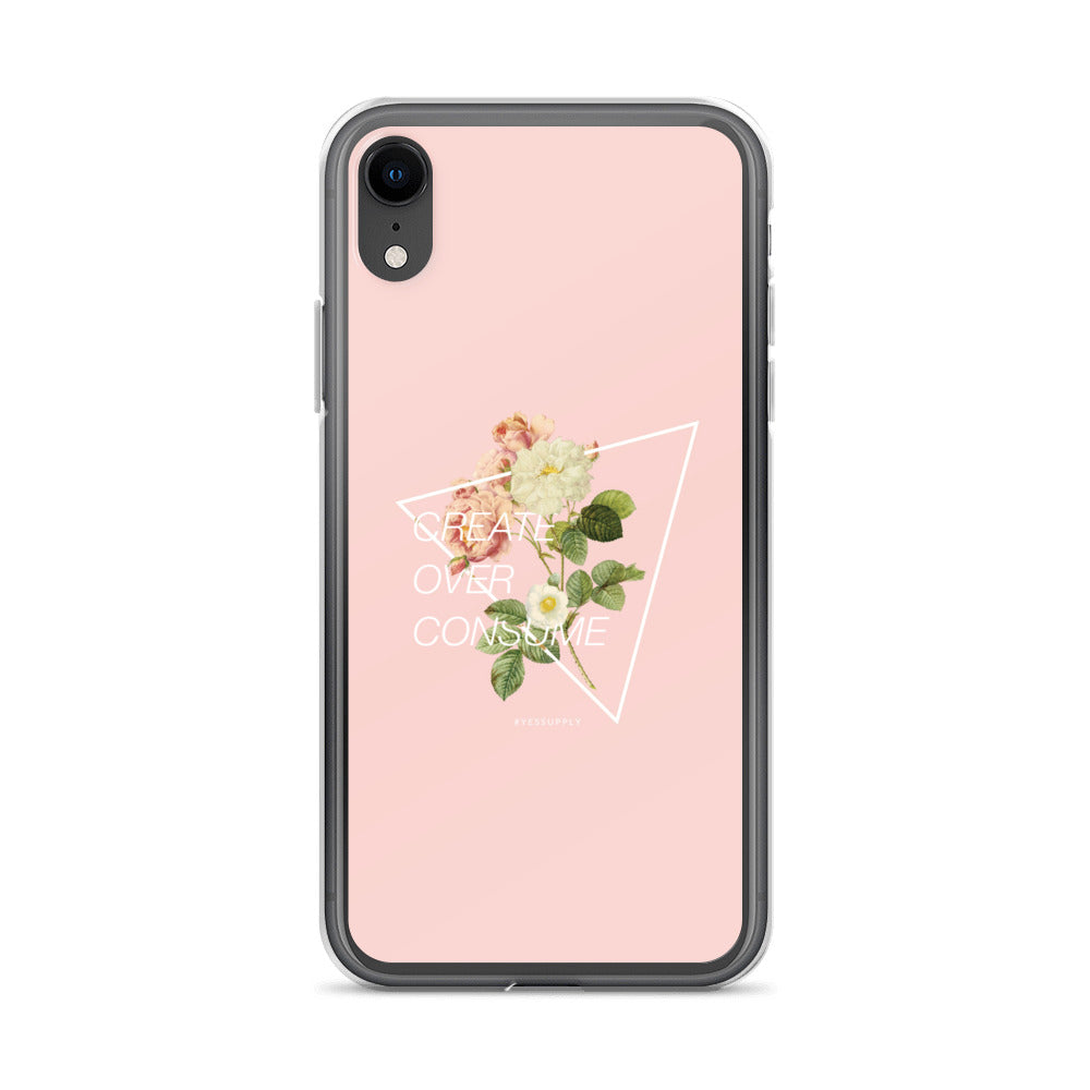 Create Over Consume iPhone Case