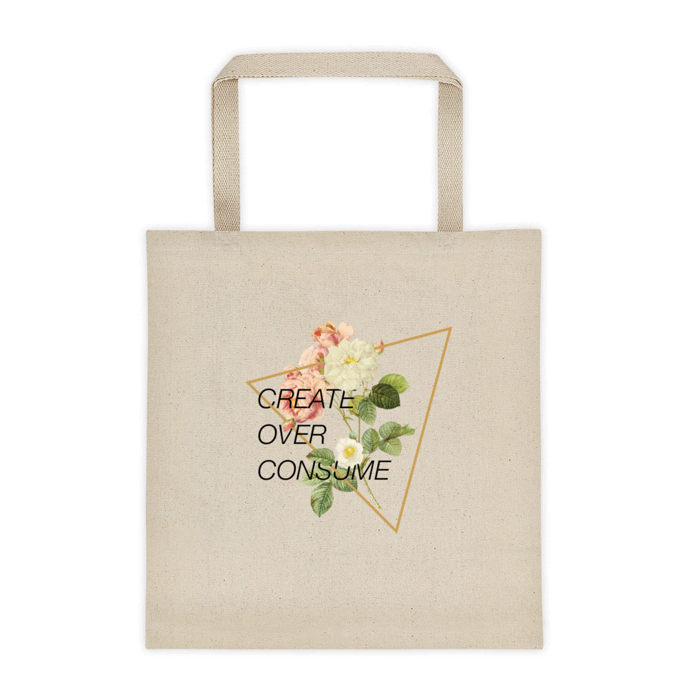Create Over Consume Tote bag