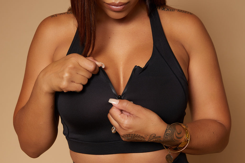 Black Panther Zip up Sports bra