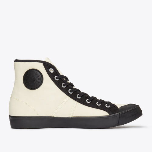 1892 National Treasure Contrast High Top - Ecru / Black