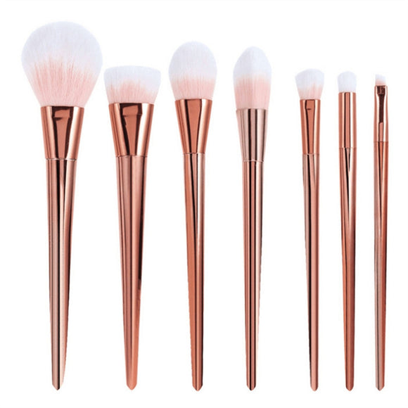 7Pcs Makeup Brushes Set Synthetic Hair Make Up Brushes Tools Cosmetic Foundation Brush Kits (Pink)