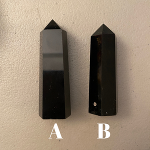 Black Obsidian Crystal Points