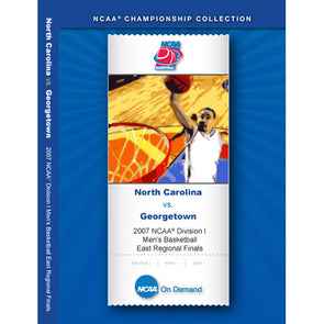 2007 Georgetown vs. North Carolina NCAA Division I Men's Basketball East Regional Finals DVD